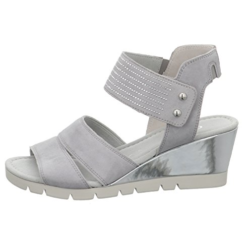 Gabor 62.845.40 - Sandalias de vestir para mujer light grey (Specc)