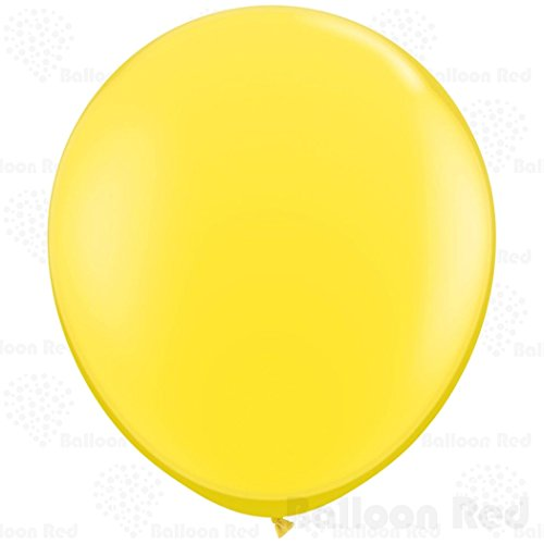 [36 Inch Giant Jumbo Latex Balloons (Premium Helium Quality), Pack of 1, Regular Shape - Yellow] (Homemade Cupcake Costumes For Adults)