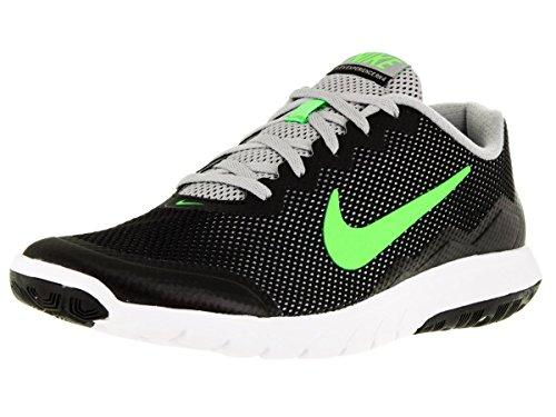 Nike Flex Experience RN 4 Laufschuh Schwarz / Flt Silber / Weiß / Electric Grün