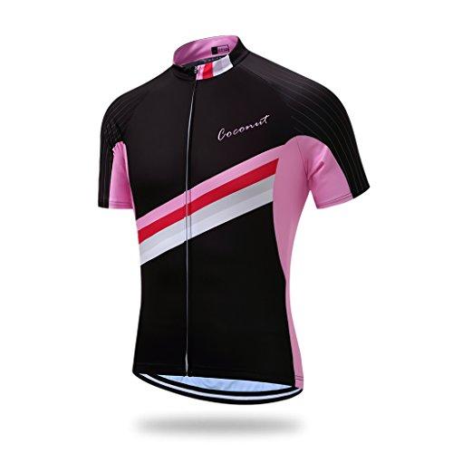 Coconut Ropamo Men's Shorts Sleeve Cycling Jersey Tops Bike Clothing Biking Shirt with 3 Pockets (XL, 2016)