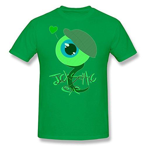 JUNNY Men's JackSepticEye Logo O-Neck T Shirt ForestGreen S (Hunger Games Custome)