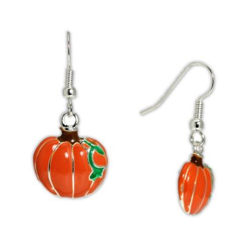 Bright-Cheerful-Orange-Pumpkin-w-Green-Vine-Earrings-in-Silver-Tone-for-Autumn-Thanksgiving-Harvest