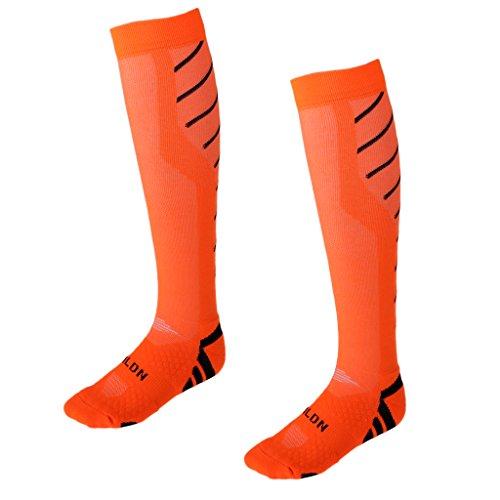 Voyage And Fitness D'allaitement Running 1 Pour Parfaites Compression amp; Paire De Perfk Mdicales Orange Chaussettes Et Vol Black zAaqw6