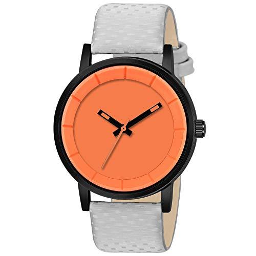 Dainty Analog Orange Dial Men #39;s Watch MT 001