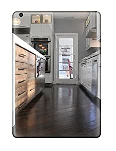 Cute Appearance Cover/tpu RiQswUi5873GjeRz Dark Hardwood Floors With White Cabinets In Kitchen Case For Ipad Air