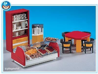 Playmobil Cafeteria Interior - Ocean Mall Shopping City