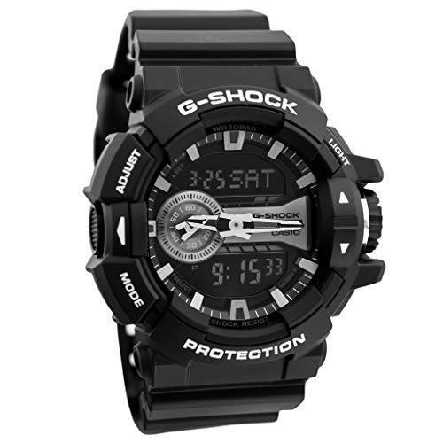 G-shock Dial Silver - Casio G-Shock Black and Silver-Tone Dial Resin Quartz Men's Watch GA400GB-1A
