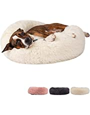 Zenify Pets Calming Dog Bed for Cats or Small Medium Dogs Puppy (60cm, White)