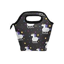 Saobao - Bolsa de almuerzo con diseño de unicornio y bolsa de almuerzo, bolsa de almuerzo, bolsa de almuerzo, contenedor de alimentos para gourmet, bolsa térmica para escuela, oficina, viajes, al aire última intervensión
