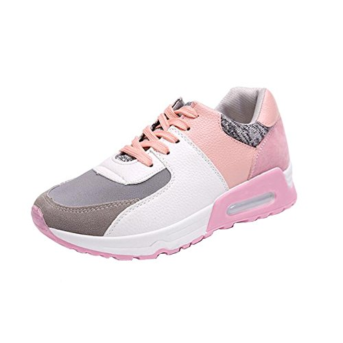 ANDAY Womens Casual Thick Sole Sports Shoes Athletic Gym Running Shoes Trainers Pink nkNUHnreS