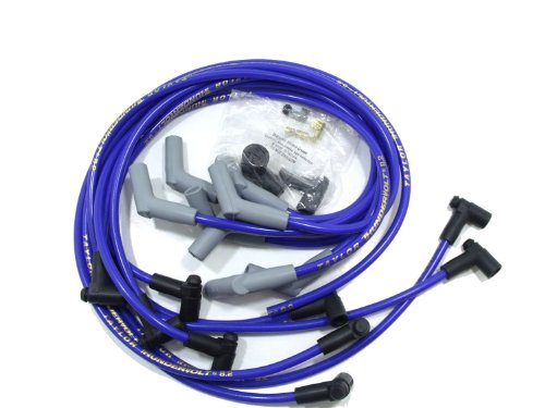 Taylor Cable 86632 ThunderVolt 8.2mm Ignition Wire Set Race Fit 135 deg. Plug Boot HEI Over Valve Cover Chevy Big Block Blue ThunderVolt 8.2mm Ignition Wire Set (Plugs Cover Ignition)