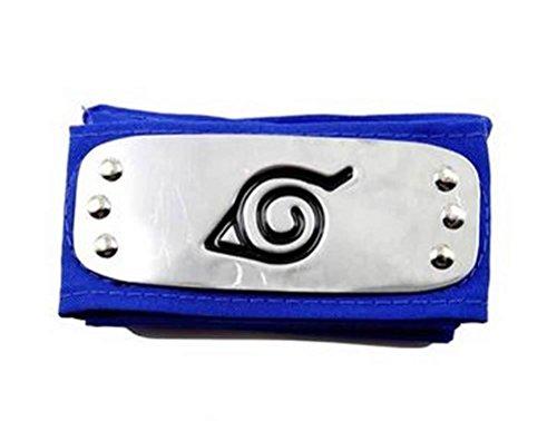 NARUTO Cosplay Konoha Leaf Village Blue Headband