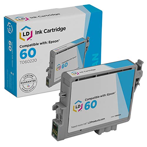 LD Products Remanufactured Ink Cartridge Replacement for Epson T0602 ( Cyan -
