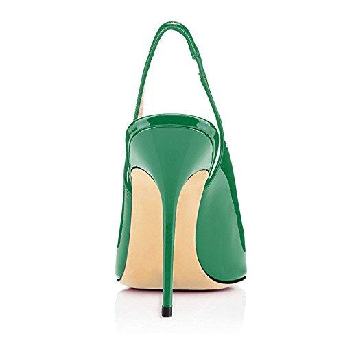 Grande Haute Taille Stilettos Escarpins Aiguille Ubeauty Femme Talons Femmes Chaussures Vert Talon Avec 12cm 7qBBY04x