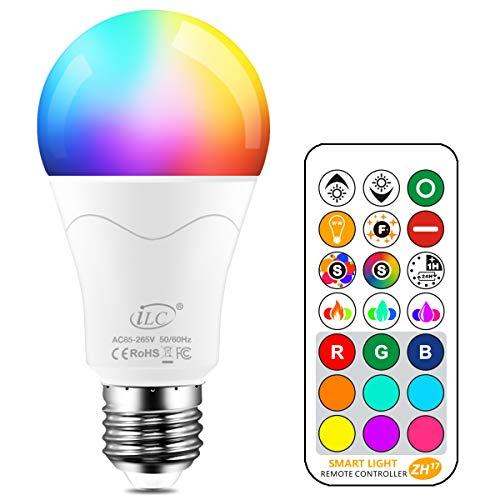 iLC Edison E27 Ledlamp, vervangt 85 W, 1050 lumen, RGB-gloeilamp met afstandsbediening, kleurverandering, warmwit