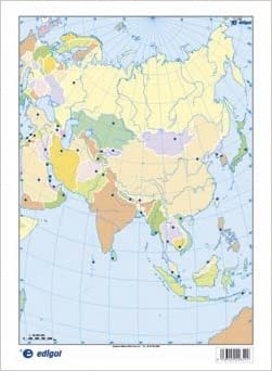 Asia Politico Mapa Mudo De Ejercicios S A Edigol Ediciones