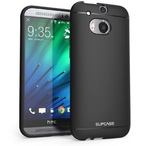 HTC One M8 Case, SUPCASE Premium Ultra Slim Fit SoftGel Flexible TPU Case for HTC One M8 (2014 Release), Black