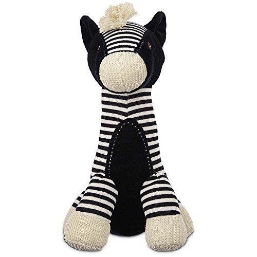 Leaps & Bounds Wildlife Plush Long Neck Zebra Dog Toy, 12