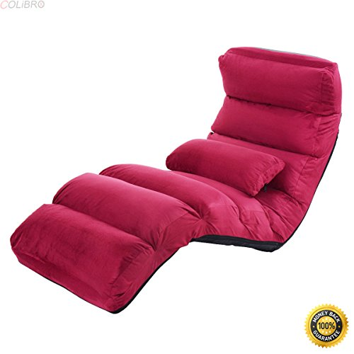 Colibrox  Folding Lazy Sofa Chair Stylish Sofa Couch Bed Lounge Chair W Pillow Burgundy Floor Chair With Back Support Best Floor Chair  Folding Lazy Sofa Sofa For Sale Portable Floor Chair