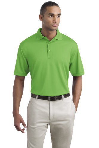 Mens Bamboo Charcoal Polo - Port Authority Men's Poly Bamboo Charcoal Blend Pique Polo XL Vibrant Green