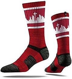 Best Buy Seattle City Skyline Retro Crimson Strideline Mens Athletic Socks