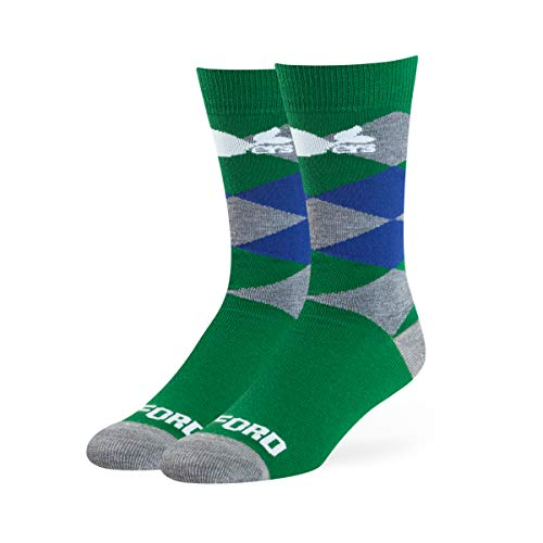 OTS NHL Hartford Whalers Male Blaine Dress Socks, Kelly, Large ()