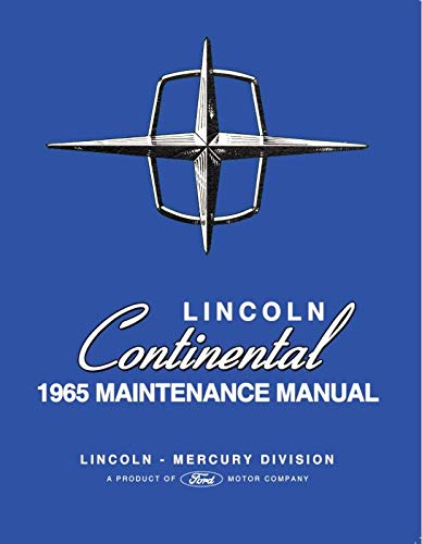 1965 Lincoln Continental Maintenance Manual