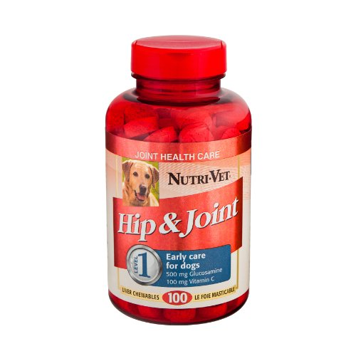 Nutri-Vet Hip and Joint Level 1 Chewable Tablet for Dogs, 100-Count
