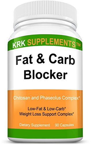 1-Bottle-Fat-and-Carb-Blocker-with-Phaseolus-Vulgaris-White-Kidney-Bean-Extract-Chitosan-Extreme-Diet-Pills-Weight-Loss-90-Capsules-KRK-Supplements