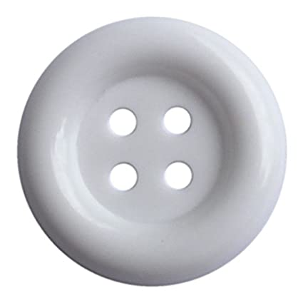 Amazon com: Large Size Arctic White Buttons Pack of 40