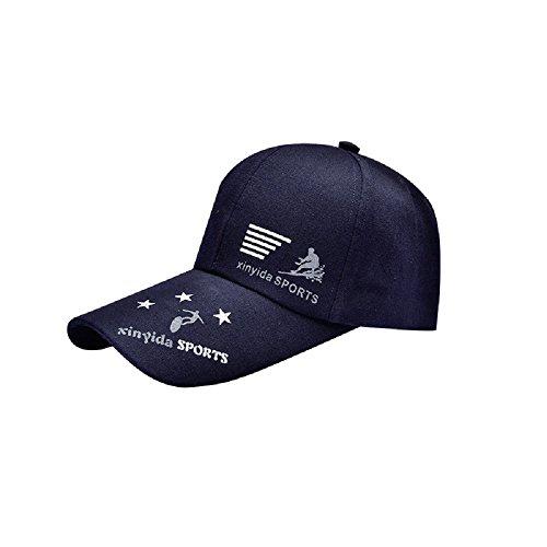 Navy Blue Brush Cotton Hat - 3