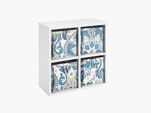 ClosetMaid 4430 Tiny 4-Cube Organizer with Four Boho Pattern Bins