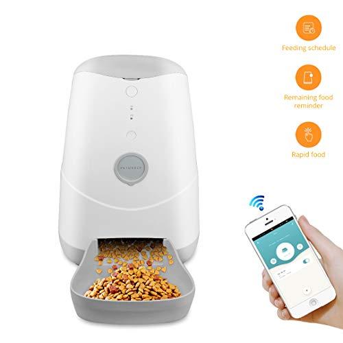 BENEXMART Katzenfutterautomat, automatischer Futterautomat für Katzen und Hunde – App-Steuerung – Präzise Portion…