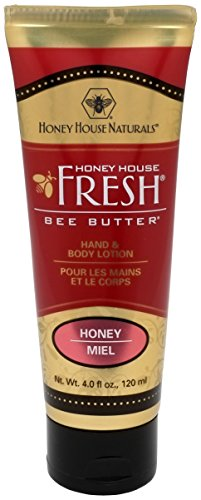 Honey House Naturals Bee Butter Lotion, Honey - 4 oz