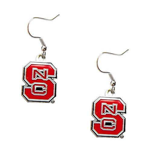 aminco NC State North Carolina State Wolfpack Dangle Logo Earring Set Ncaa Charm Gift