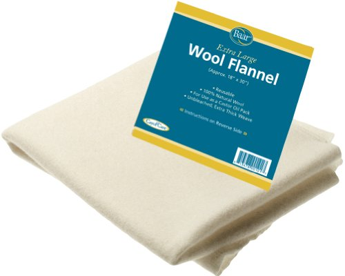 Extra Large, 100% Natural, Unbleached, Extra Thick Wool Flannel (Wool Flannel)