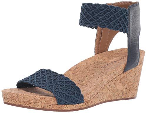 Lucky Brand Women's KIERONY Wedge Sandal, Indigo, 11 M US