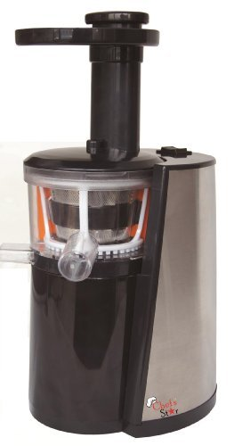 Chef's Star Slow Masticating Juicer Black & Stainless Steel image