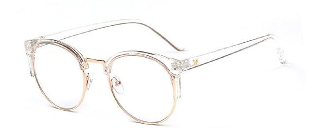 mbryform Retro lunettes rondes frame hommes miroir plaine et les femmes visage religieux sauvages 9580 Monture noir branches grises jDxnEVQc