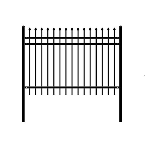 f Unassembled Steel Fence, 6' x 4' Black (Residential Fencing)