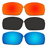 3 Pair ACOMPATIBLE Replacement Polarized Lenses for Oakley RPM Squared Sunglasses OO9205 Pack P1
