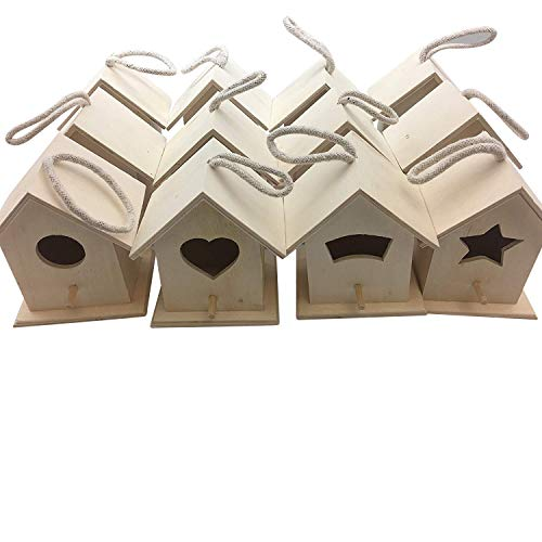 Oojami Design Your Own Wooden Birdhouses 12 Bird House Bulk (Modern)
