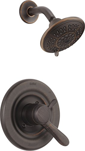 (Delta Faucet Lahara 17 Series Dual-Function Shower Trim Kit with 5-Spray Touch-Clean Shower Head, Venetian Bronze T17238-RB (Valve Not Included))