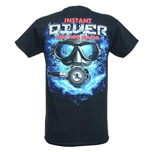 Amphibious Outfitters T-Shirt - Instant Diver - Black -XLarge