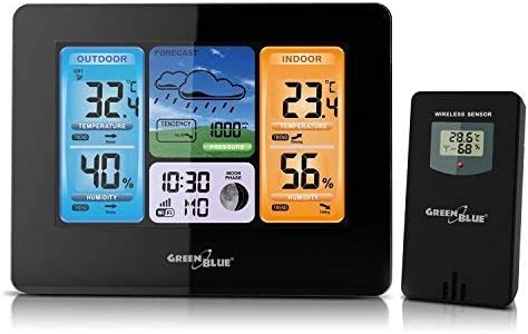 GreenBlue GB522 - Estación meteorológica DCF, Inalámbrica, de ...