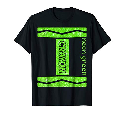 Neon Green Crayon Halloween Couple Friend Group Costume -