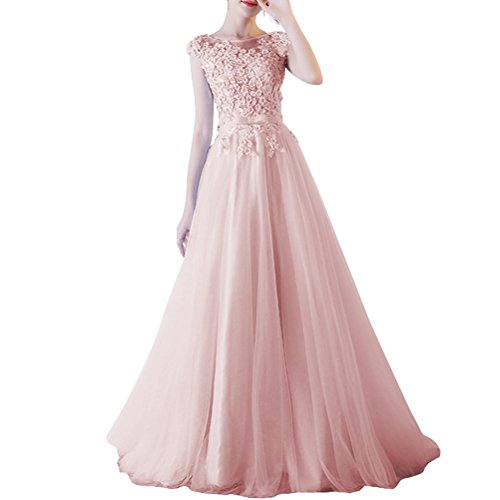 Pink2 A Linie Langes Prinzessin Vickyben Tuell Damen Party Kleid OuZTPkXi