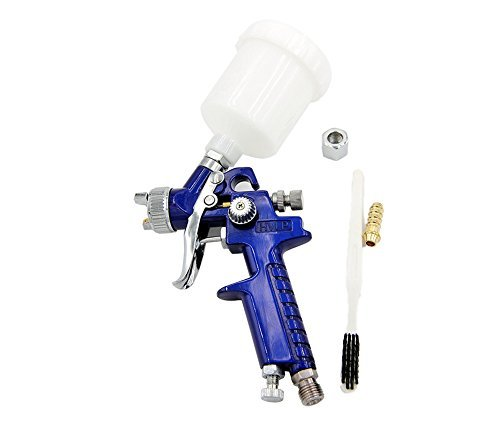 Airbrush Poster - SYWHZ G308 0.8mm Nozzle Gravity Feed Mini Spray Gun for Pattern of Automotive Wooden Furniture Poster Board