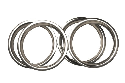 URO Parts TR525AK Stainless Steel Wheel Trim Ring Set - 4 Piece