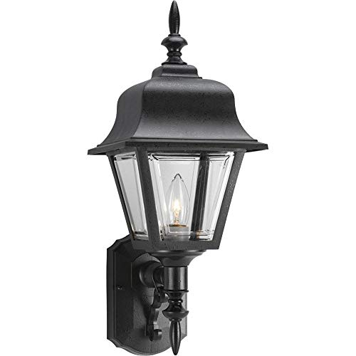 Progress Lighting P5656-31 Polycarbonate Lanterns 1 Light Wall Lantern in Black, ()